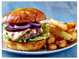 2-4-1 Burger & Chips Only $14!