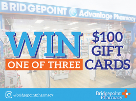 WIN: One of Three $100 Gift Cards for Bridgepoint Pharmacy