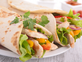 Two Chicken Wraps for $23.50, Think Local Deal, Garden Terrace Cafe