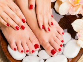 Normal Polish Mani & Pedi Only $40!