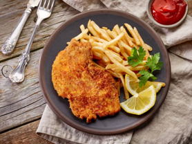 Buy 1 Get 1 Free Schnitty & Chips $25!, Think Local Deal, Austrian Beer Bar
