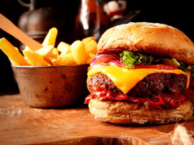 Gourmet Burger & Chips for 2 $27